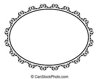 oval, ornamental, ornamental, ramme