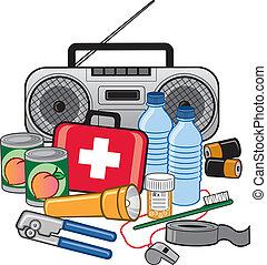 overleven, beredskab, nødsituation, udstyr