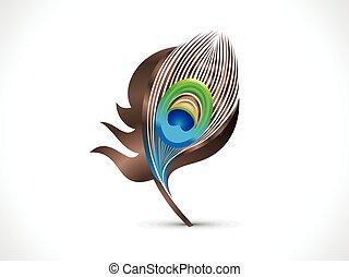 påfugl fjer, kunstneriske, abstrakt