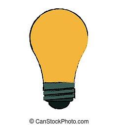 pære, skitse, nyhed, ide, kreative