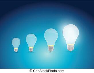 pærer, graph, ide, illustration, konstruktion, lys