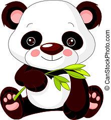 panda, morskab, zoo.