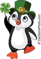 patrick, pingvin, det fejrer, helgen, da.