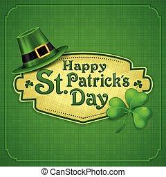patrick, st.., grønne, dag, plakat