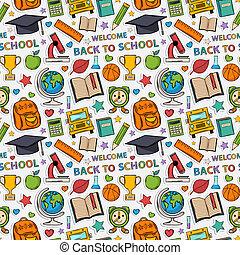 pattern., mærkaten, skole