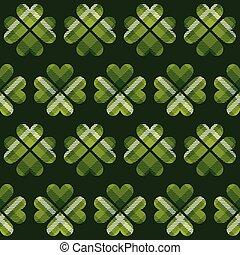 pattern., seamless, dag, helgen, tartan, patrick's
