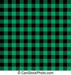 pattern., tartan, grønne, plaid, shamrock