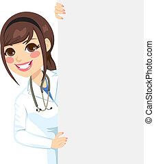peeking, kvindelig doktor