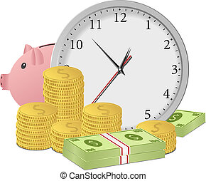 penge, begreb, tid