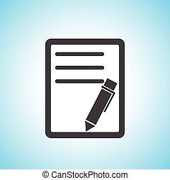 pen/paper, dokument, ikon