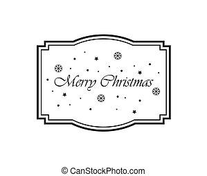perfekt, jul, etiketter, invitationer, label., announcements., eller
