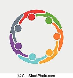 personer, grafik, 7 folk