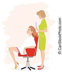 pige, salon, hairdressing