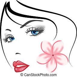 pige, zeseed, skønhed