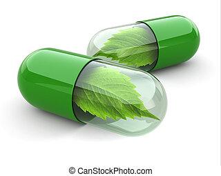 pills., alternativ, naturlig, vitamin, medicine.