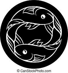 pisces, fish, astrologi, zodiac, tegn