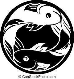 pisces, fish, horoskop, zodiac, tegn
