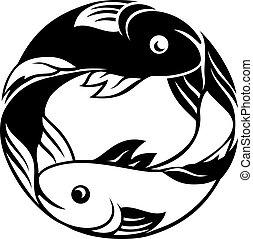 pisces, fish, zodiac, tegn