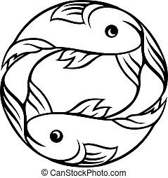 pisces, zodiac, fish, tegn