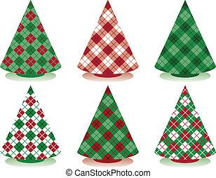 plaid, træer christmas
