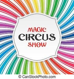 plakat, cirkus, trylleri, skabelon, forevise