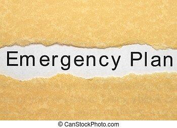 plan, nødsituation