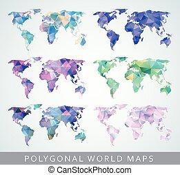 planer, samling, verden
