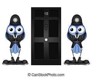 politimænd, komisk