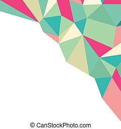 polygonal, backgr, geometrisk mønster