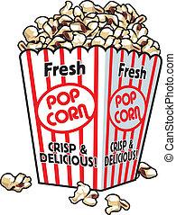 popcorn, frisk