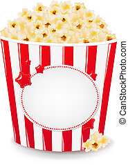 popcorn, karton æske