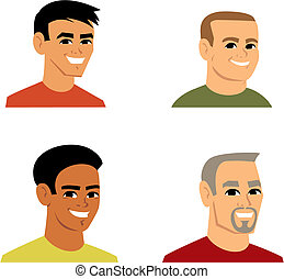 portræt, avatar, cartoon, illustration