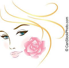 portræt, pige, skønhed, zeseed