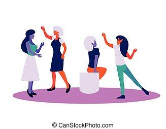 positiv, ideer, tanker, kvinder
