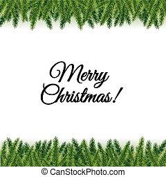 postkort, branches, træ, jul