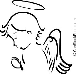 praying, engel