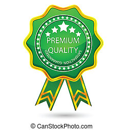 premium, emblem, kvalitet