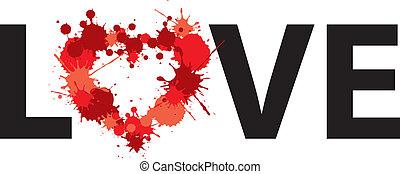 prikker, hjerte, glose, illustration, constitutions