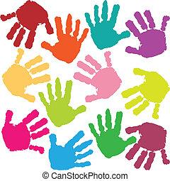 printer, hænder, barn