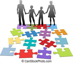 problem, counsel, forbindelsen, familie
