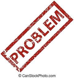 problem, gummi stæmpl