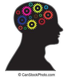 proces, hjerne, information