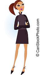 professionel, isoleret, businesswoman