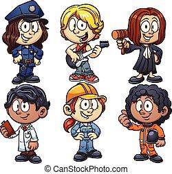 professioner, børn