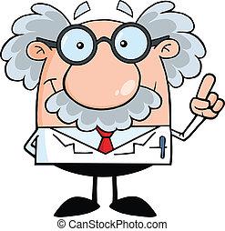 professor, videnskabsmand, ide, eller