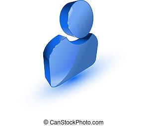 profil, bruger, ikon