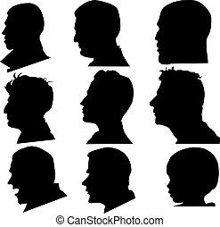 profil, vektor, zeseed