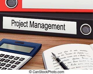 projekt, bind, ledelse