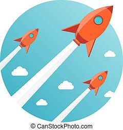 projekt, nye, startup, firma