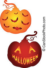 pumkins, vektor, halloween